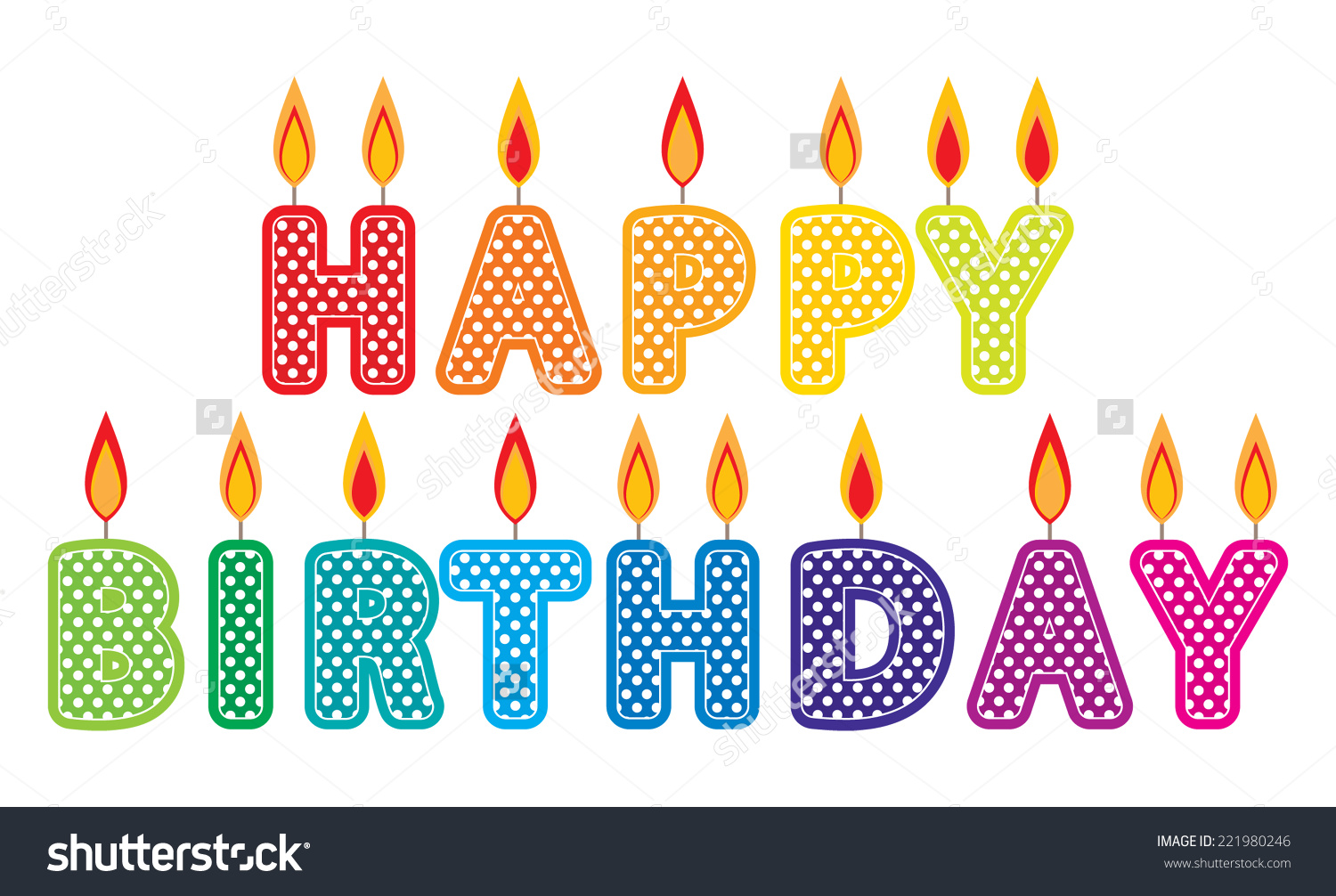 Happy Birthday Candles Clip Art Set. Col-Happy Birthday Candles Clip Art Set. Colorful Birthday cake candles graphics created using vector software-11