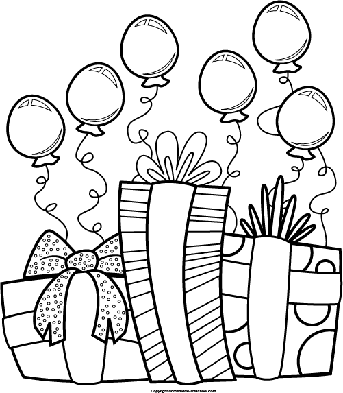 Happy Birthday Clip Art Black And White So Sory Download Free