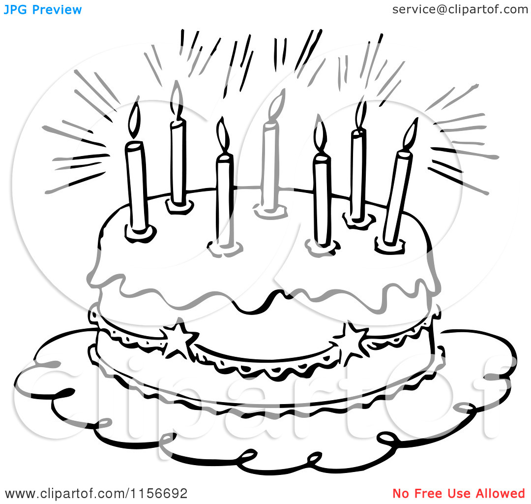 Happy Birthday Clip Art Black - Black And White Birthday Clip Art