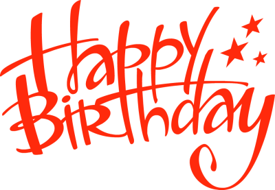 Happy birthday clipart images .