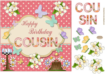 Happy Birthday Cousin Topper  - Happy Birthday Cousin Clipart