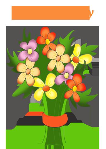 happy birthday flowers ...