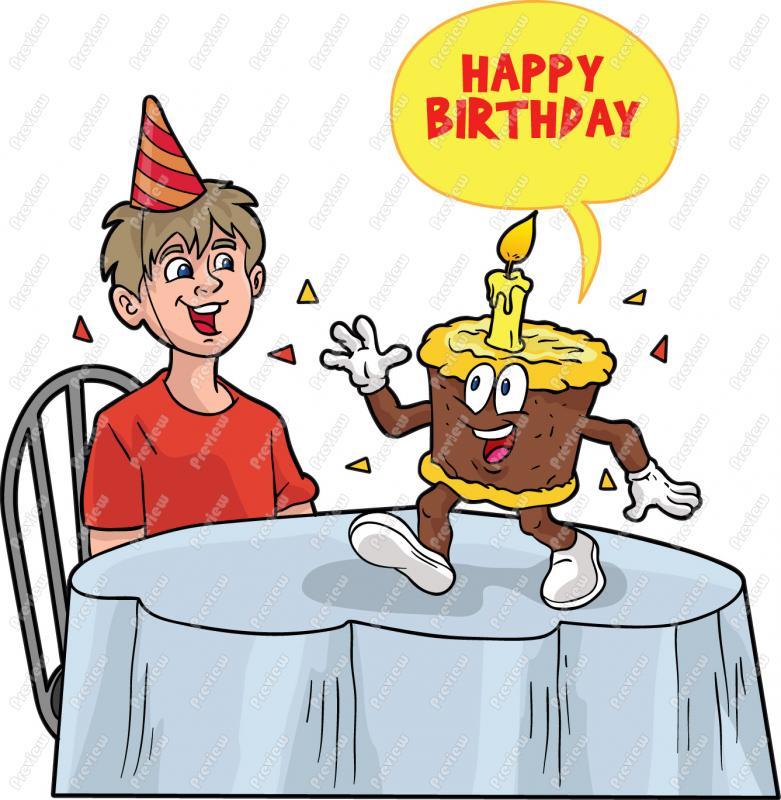 Happy Birthday Funny Clipart .