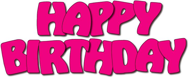 Happy birthday logos clip art