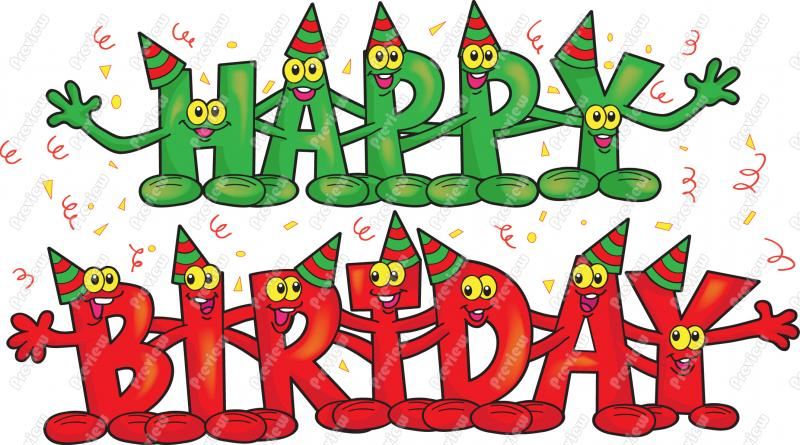 Happy birthday clipart free -