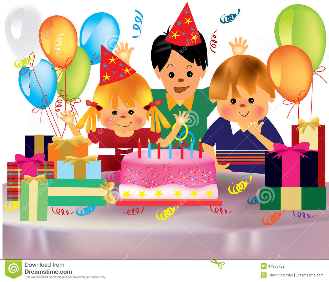 Happy Birthday Party Clipart