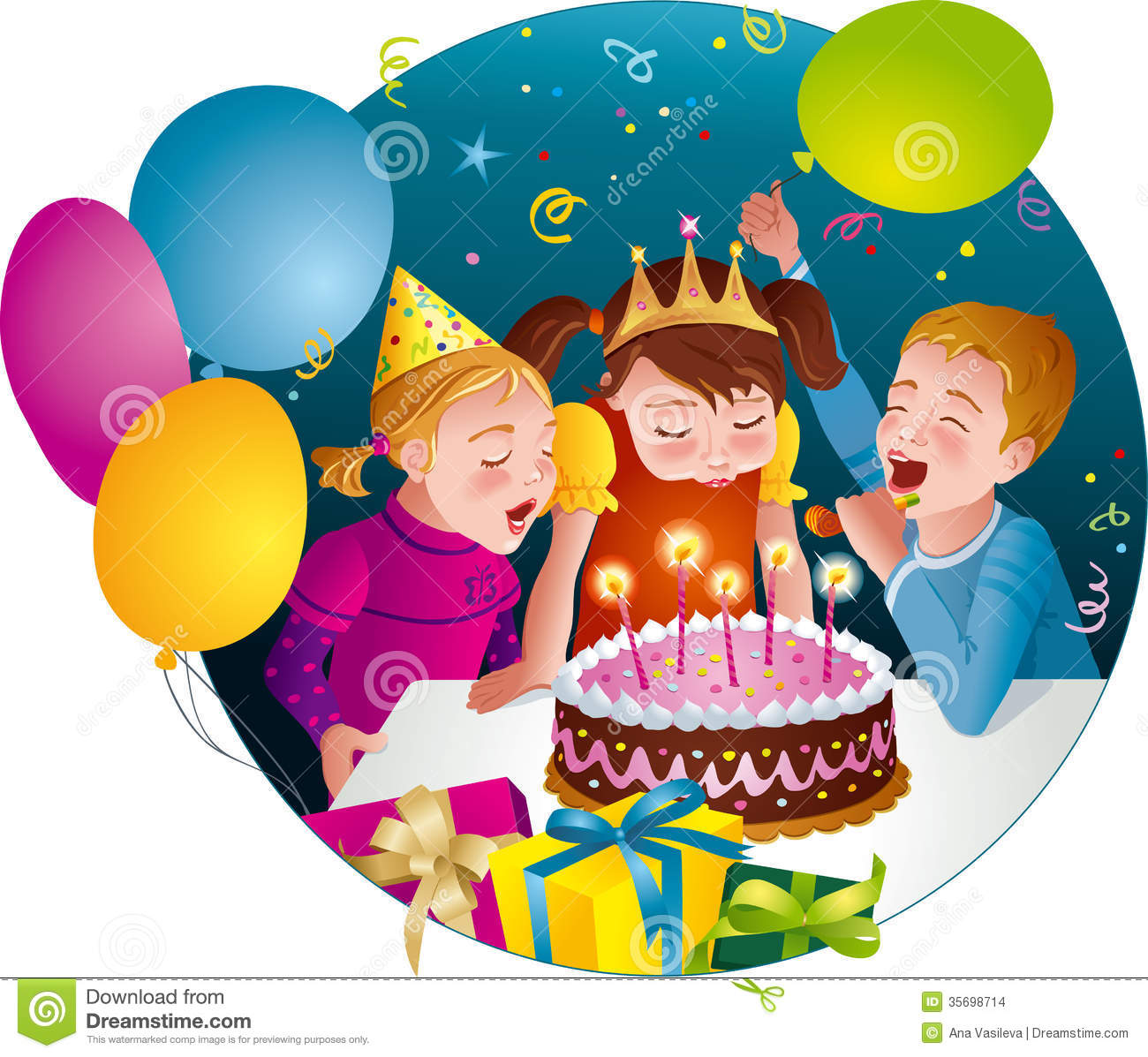 Happy birthday party clipart - ClipartFest