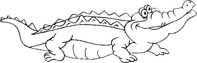 Happy Black And White Alligator