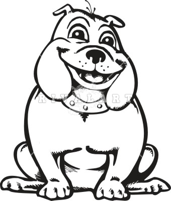 Happy bulldog clipart free clipart images