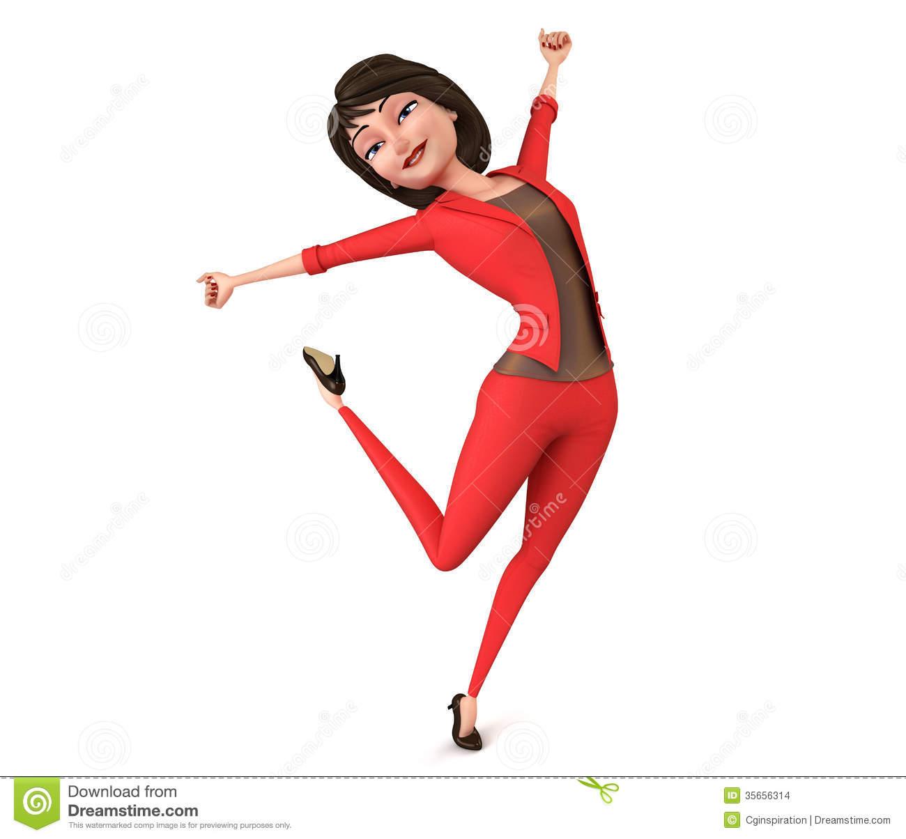 Happy Businesswoman Clipart