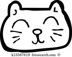 Happy Cat Face Cartoon-happy cat face cartoon-15