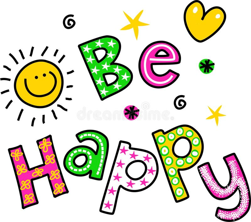 Download Be Happy Clipart Text stock ill-Download Be Happy Clipart Text stock illustration. Illustration of text -  43718898-4