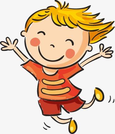 happy children, Children Jump - Happy Clipart