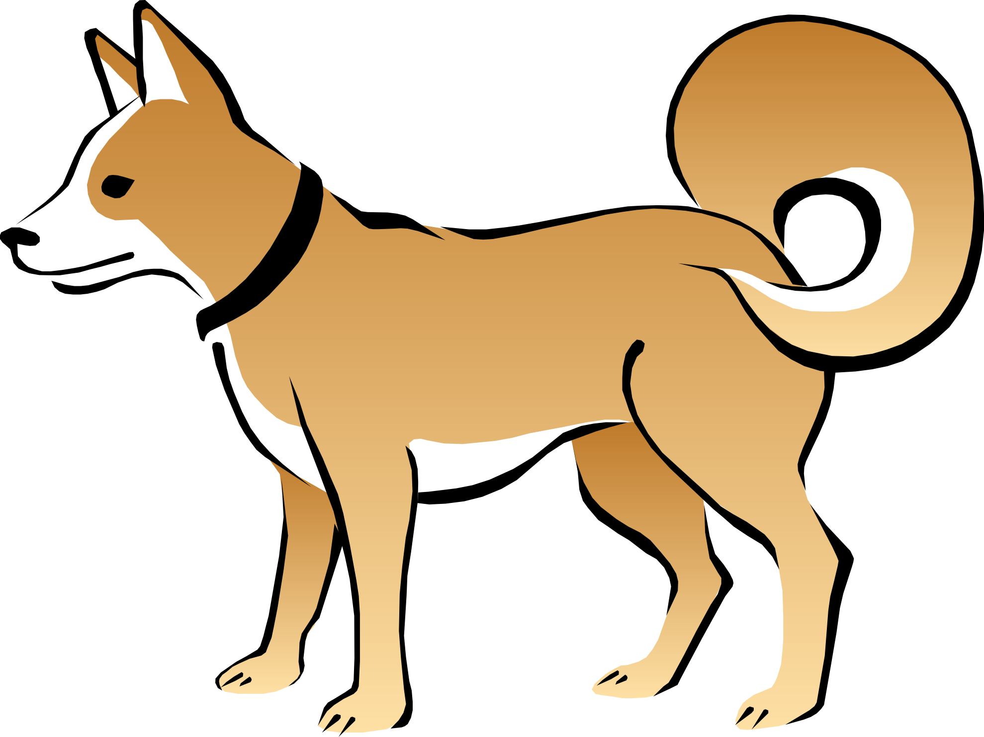 Happy Dog Face Clip Art | Clipart library - Free Clipart Images
