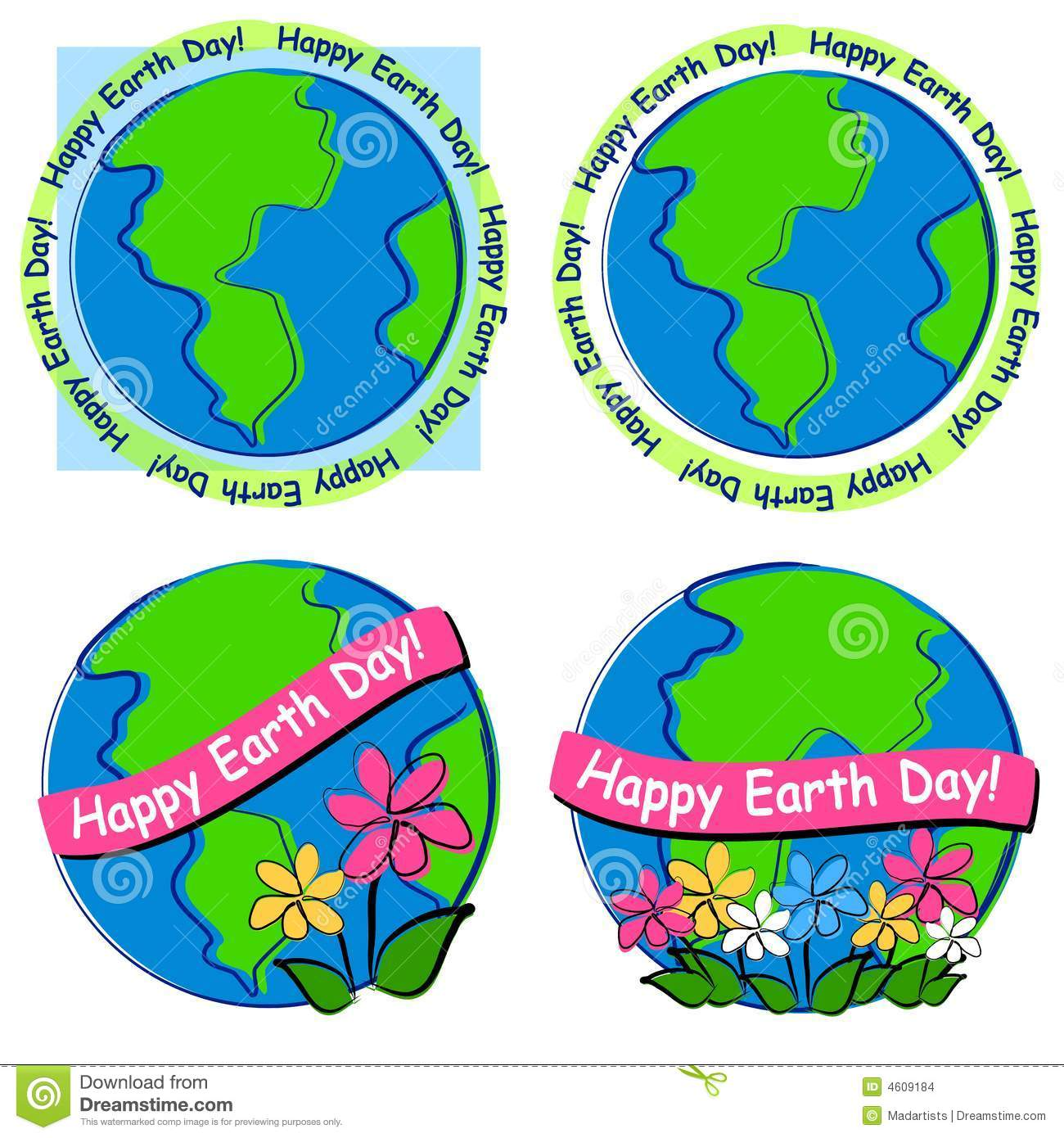 Happy Earth Day Clip Art Stock Images