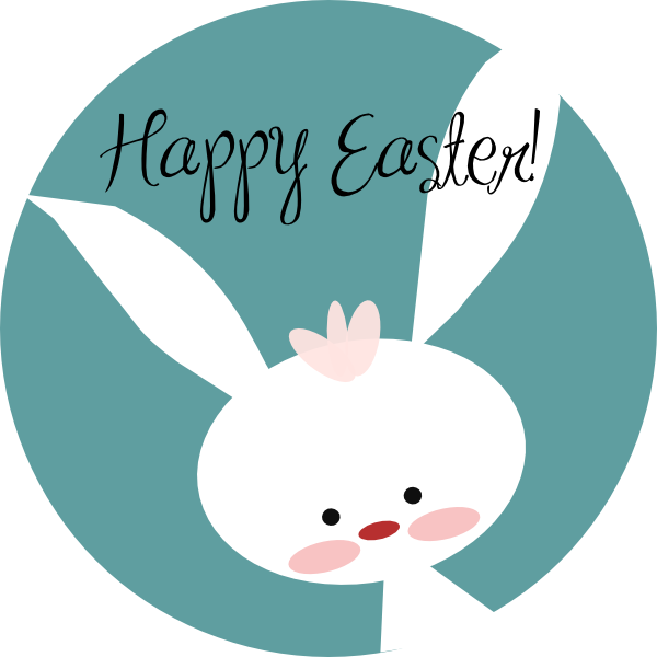 Happy Easter Bunny Clip Art At Clker Com Vector Clip Art Online