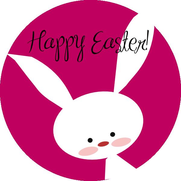 Happy Easter Bunny clip art - vector clip art online, royalty free