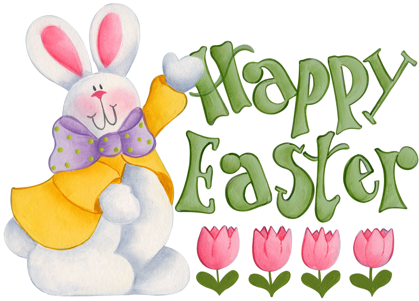 Happy Easter Clip Art Printable Calendar Template