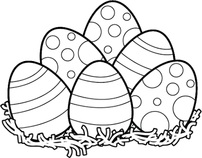 happy easter clipart black and .
