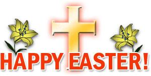 happy easter cross clip art . - Christian Easter Clip Art