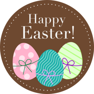 Happy Easter Eggs Clip Art