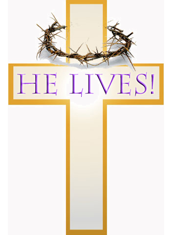 happy easter religious clipart .