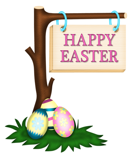 Happy Easter Sign Clipart - Clipart library