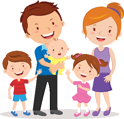 Happy Family Cartoon Clipart - Clipart Kid