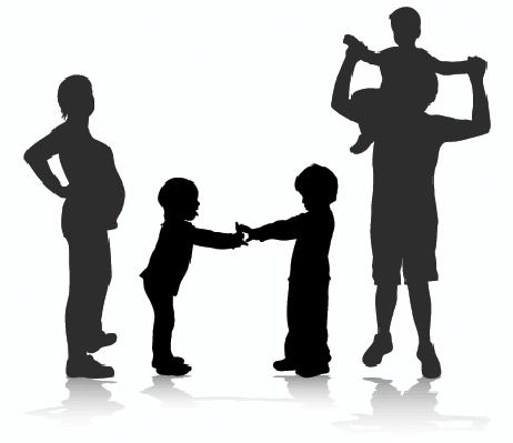 Happy Family Silhouette | Clipart