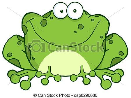 ... Happy Frog Cartoon Character - Speck-... Happy Frog Cartoon Character - Speckled Green Toad Smiling-13