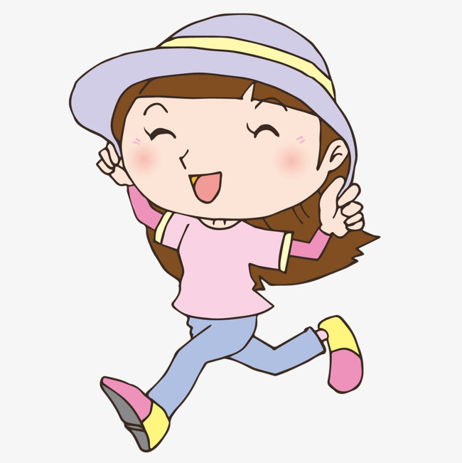 cute girl, Happy Girl, Happy  - Happy Girl Clipart