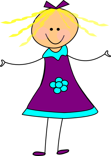 Download this image as: - Happy Girl Clipart