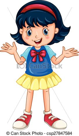 Girl speaking - csp27847584 - Happy Girl Clipart