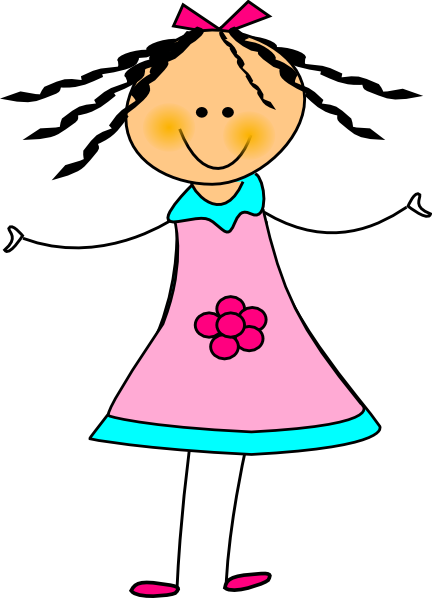 Happy Girl Clip Art at Clker clipartlook.com - vector clip art online, royalty free u0026  public domain