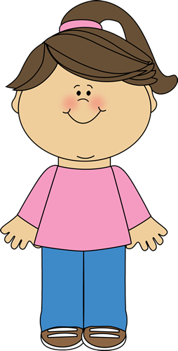 Happy Girl Clip Art Image - little girl with a big happy face.