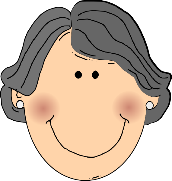 Happy Grandma Clip Art At Clker Com Vector Clip Art Online Royalty