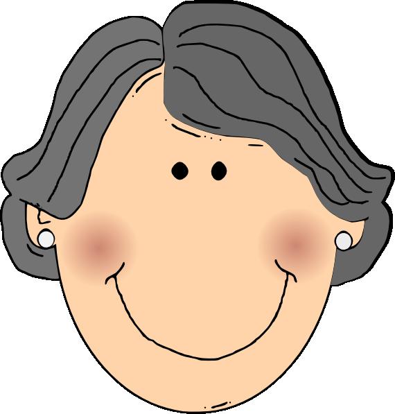 Happy Grandma Clip Art At Clker Com Vector Clip Art Online Royalty