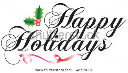 Happy Holiday Clip Art Free . vertical ribbon banner% .