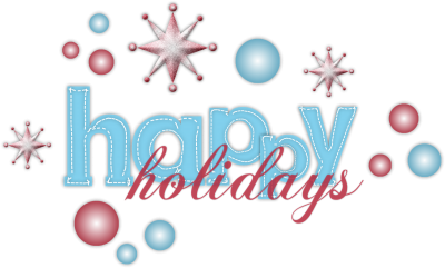happy holidays blue clipart