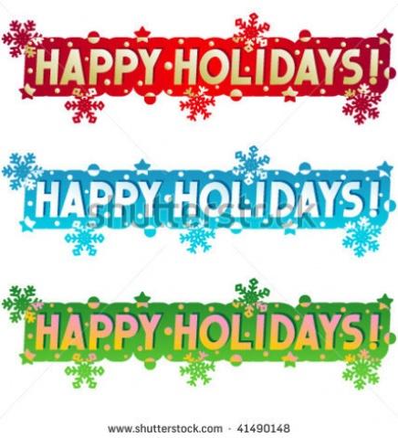 Happy Holidays Clip Art Banner .-Happy Holidays Clip Art Banner .-16