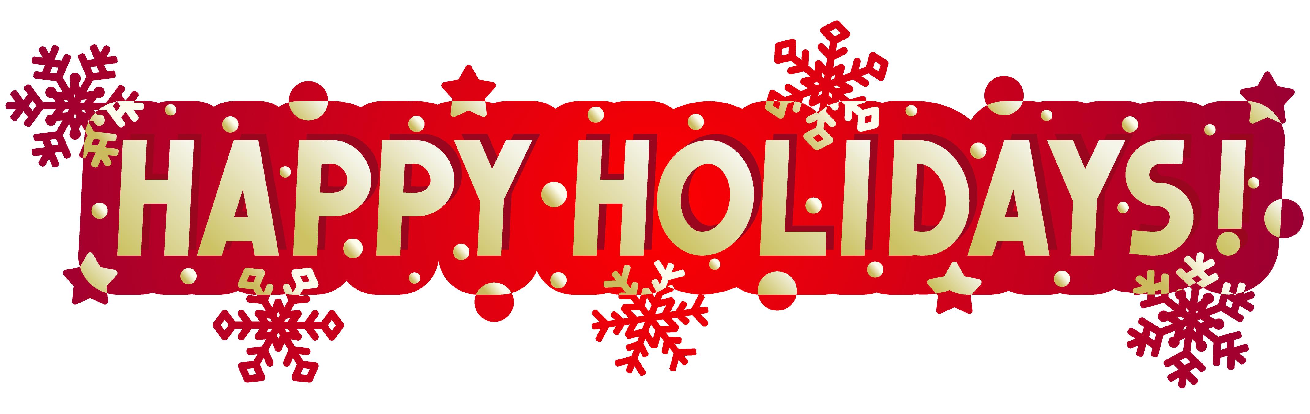 happy holidays clip art . Facebook ... Happy holidays .