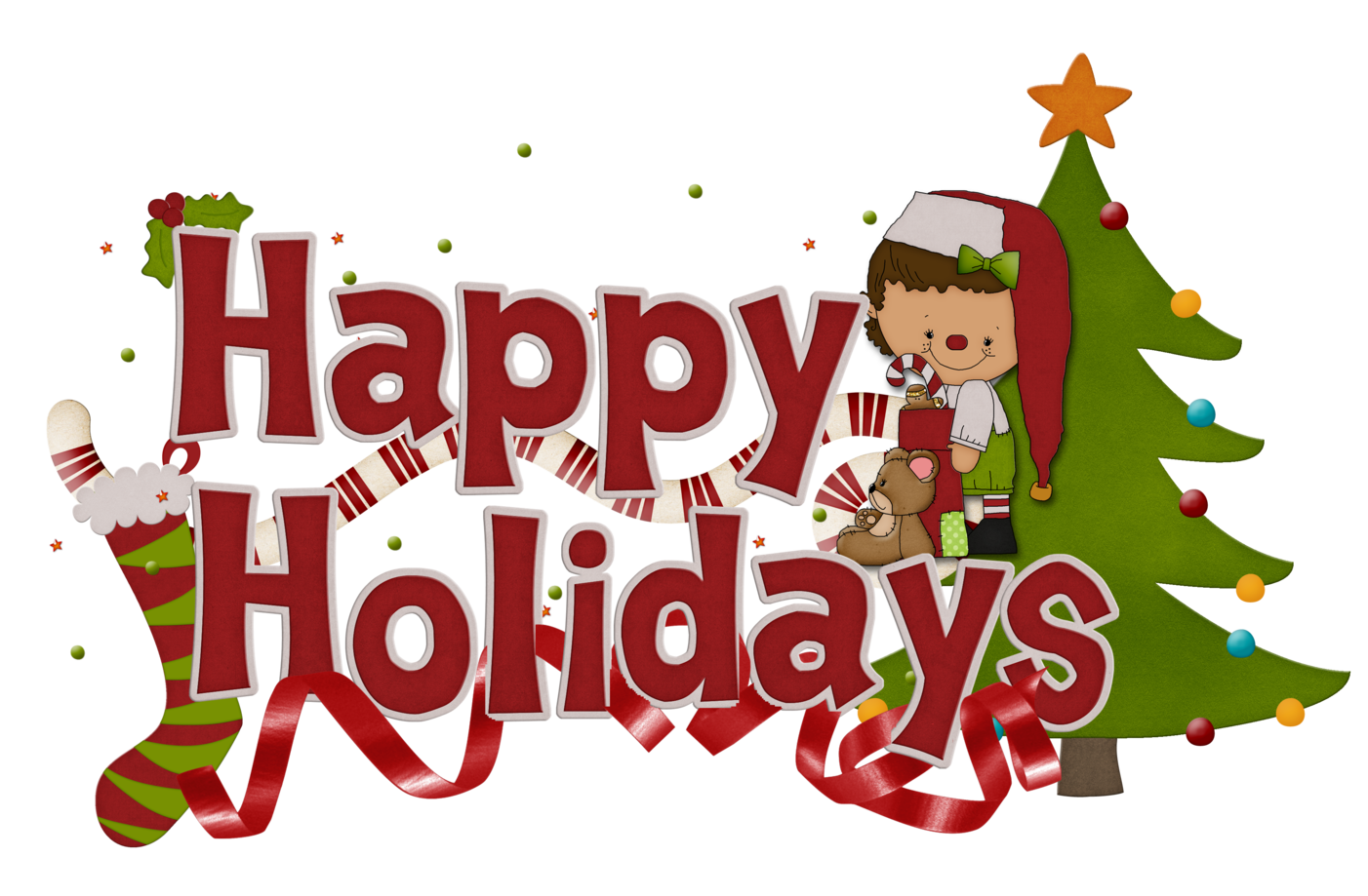 Happy Holidays Clip Art Free - Free Clip Art Holidays