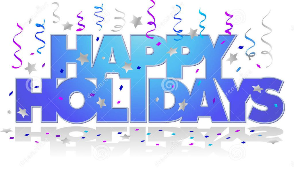 happy holidays clip art .