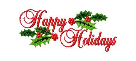 Happy holidays clip art free .