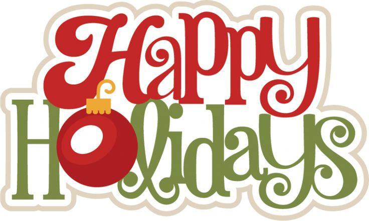 Happy holidays clip art free. Happy holidays svg scrapbook .