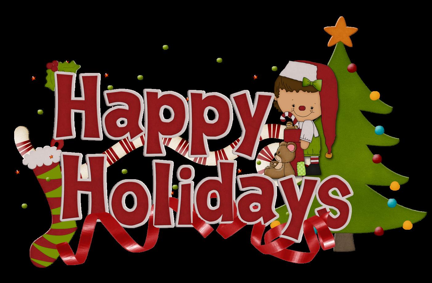 Happy Holidays Clip Art Free - Holiday Clip Art Free