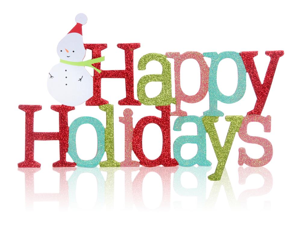 Happy Holidays Clip Art. Happy Holiday Christmas Health .