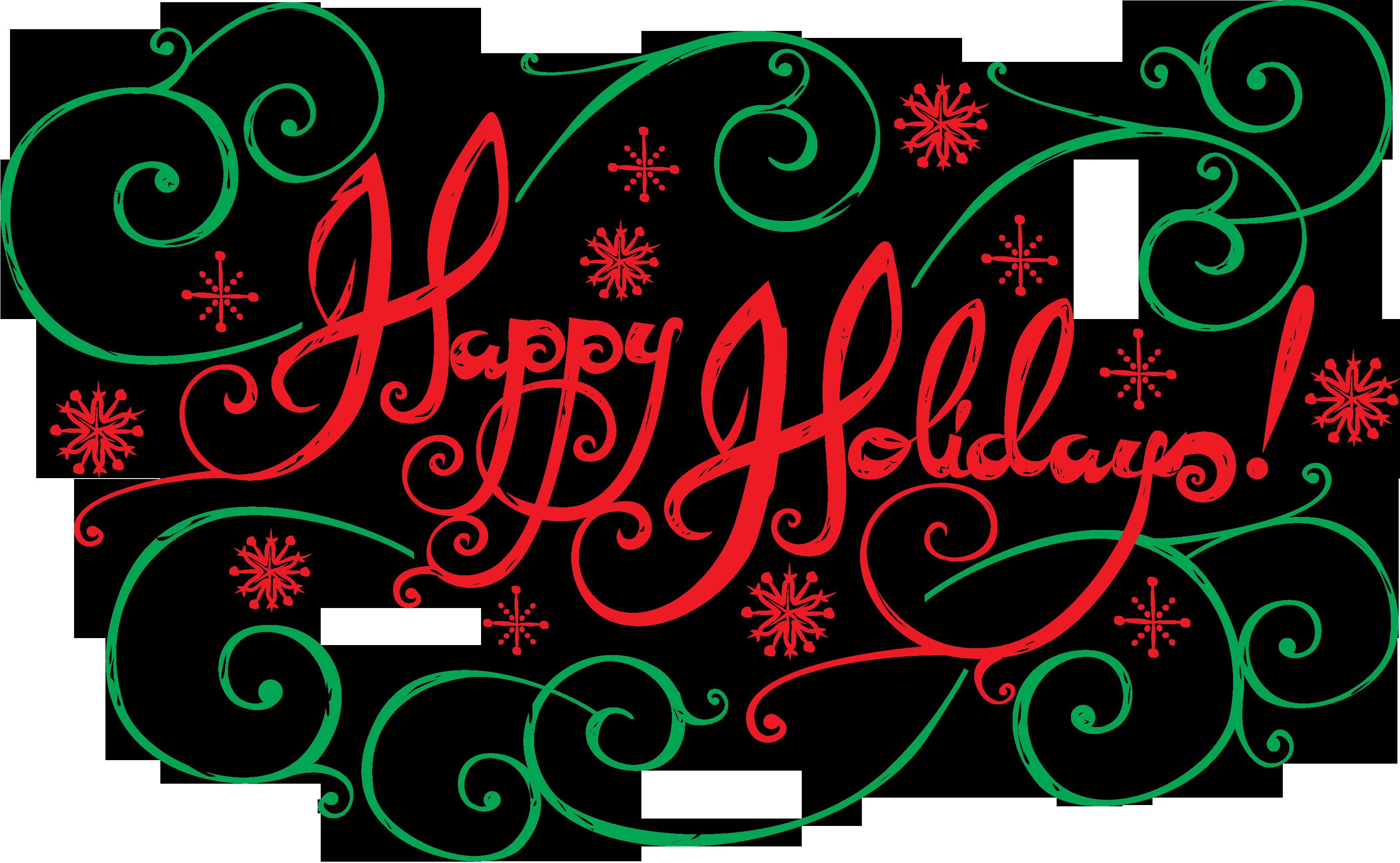 happy holidays clip art .