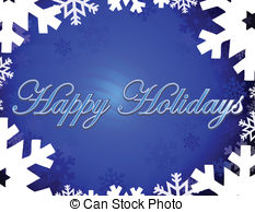 Happy Holidays Clip Art Vectorby BlankaB1/63; Happy Holidays - Happy holidays themed background with.