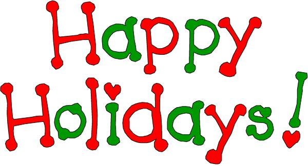 Happy holidays clipart .